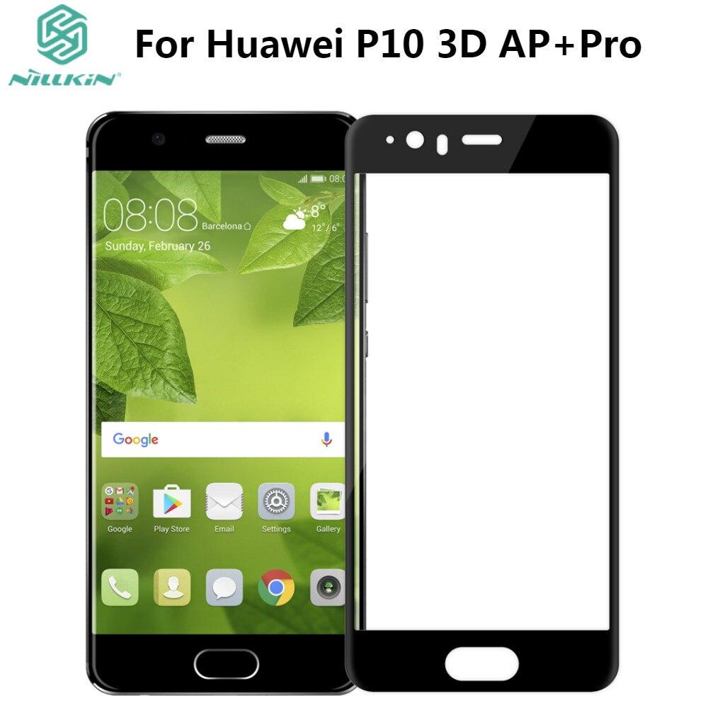 imágenes para Huawei p10 vidrio templado nillkin 3d curva completa cobertura de pantalla protector de pantalla de cristal templado para huawei p10 (5.1 pulgadas)