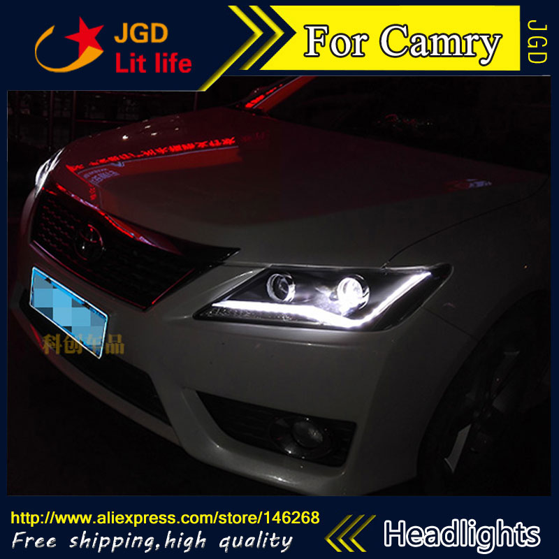 Free shipping ! Car styling LED HID Rio LED headlights Head Lamp case for Toyota Camry 2012 2013 2014 Bi-Xenon Lens low beam new car styling led rear lights kit modification for toyota camry 7th 2012 2013 2014 turning light high quality free shipping