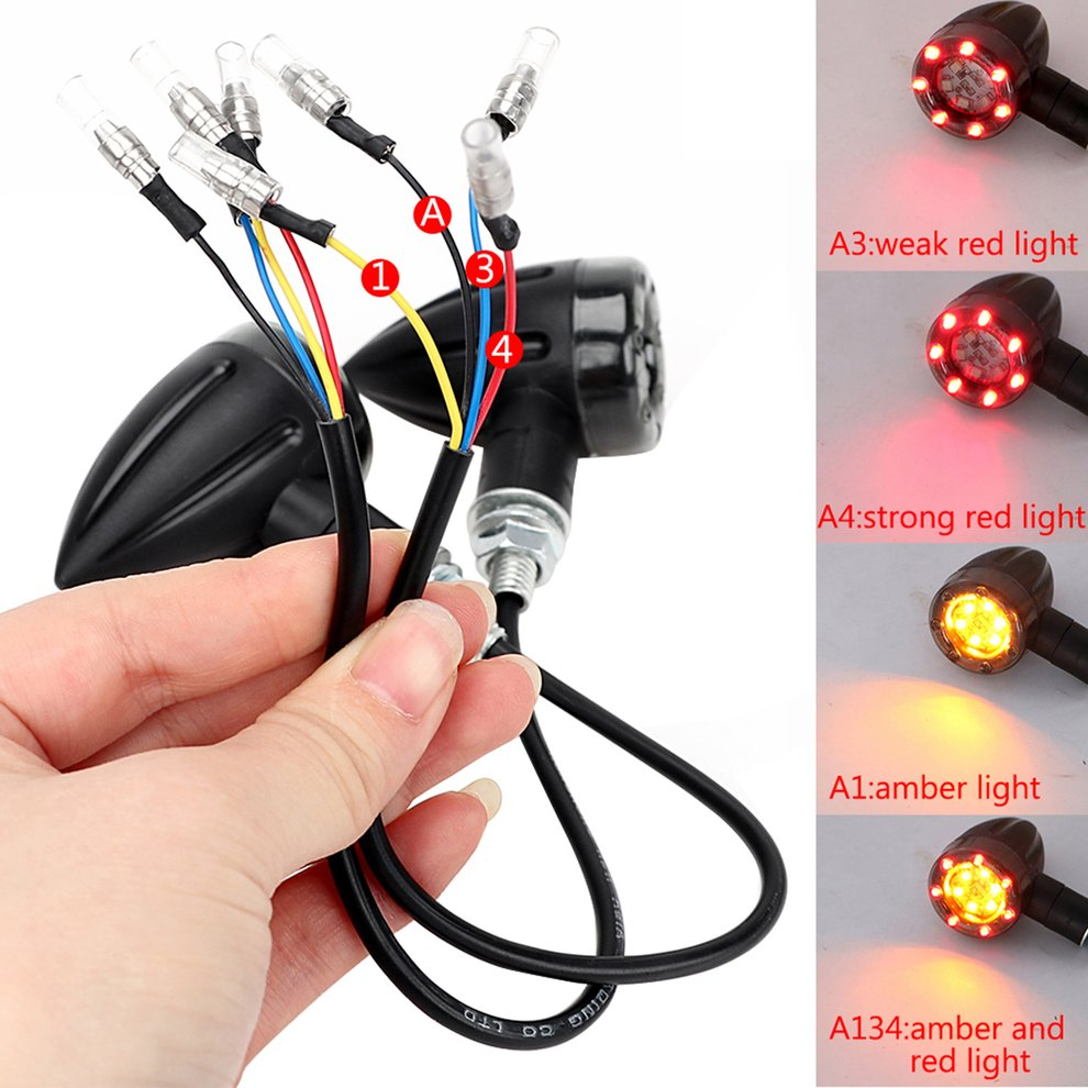 2pcs Universal Motorcycle Turn Signal Light 12V 13 LED Super Bright Bulbs Light For Motorbike Off Road Indicator Light
