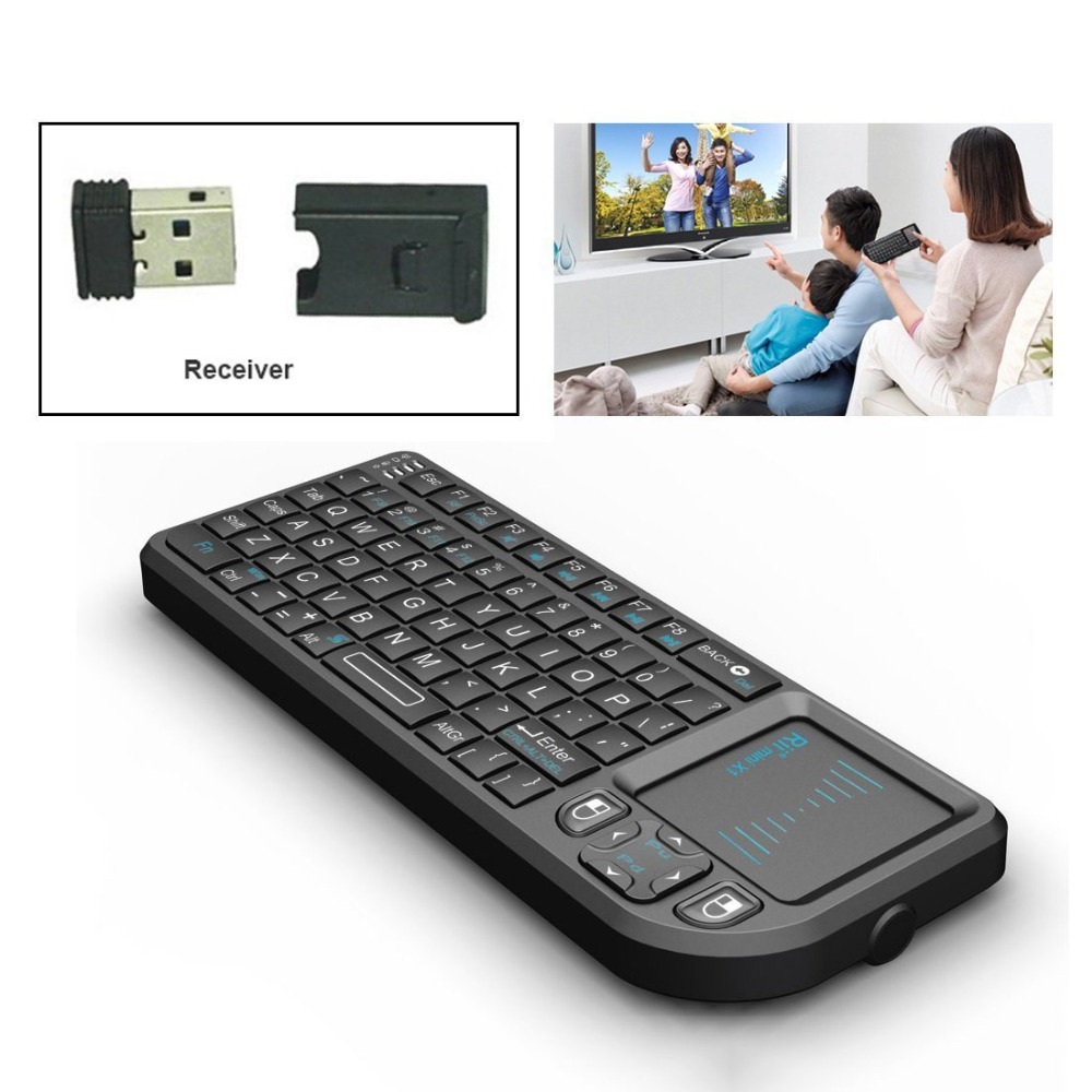 For PC Notebook Smart Google Android TV Box: Rii mini X1 Handheld 2.4GHz RF Wireless Key ...