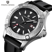 PAGANI DESIGN Mens Watches Top Luxury Classic Rubber Strap Mechanical Watches Fashion Casual Waterproof 30M Automatic Watch saat