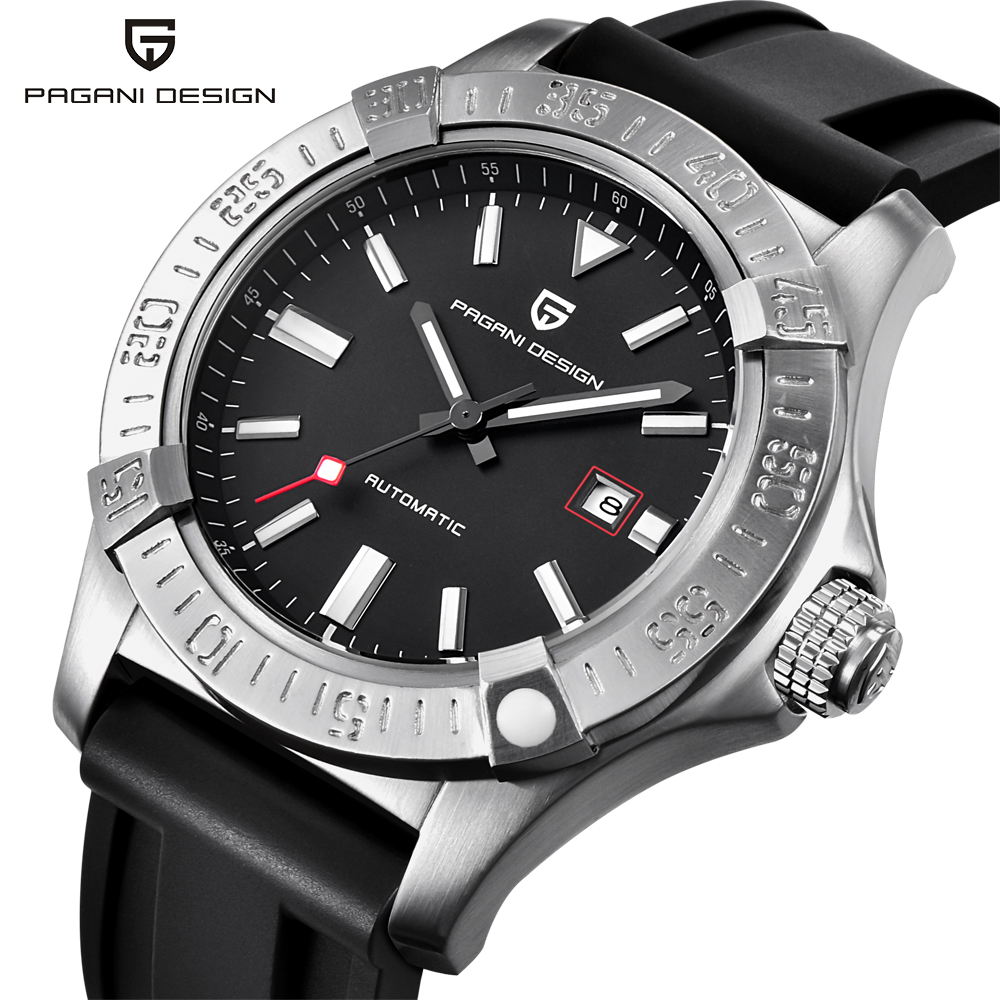 PAGANI DESIGN Mens Watches Top Luxury Classic Rubber Strap Mechanical Watches Fashion Casual Waterproof 30M Automatic Watch saatPAGANI DESIGN Mens Watches Top Luxury Classic Rubber Strap Mechanical Watches Fashion Casual Waterproof 30M Automatic Watch saat