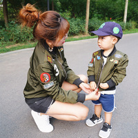 Family Matching Outfits 2017 Autumn Winter Father and Son Clothes Coat Mother Mommy and Daughter Hoodies Jacket Kids Outwear