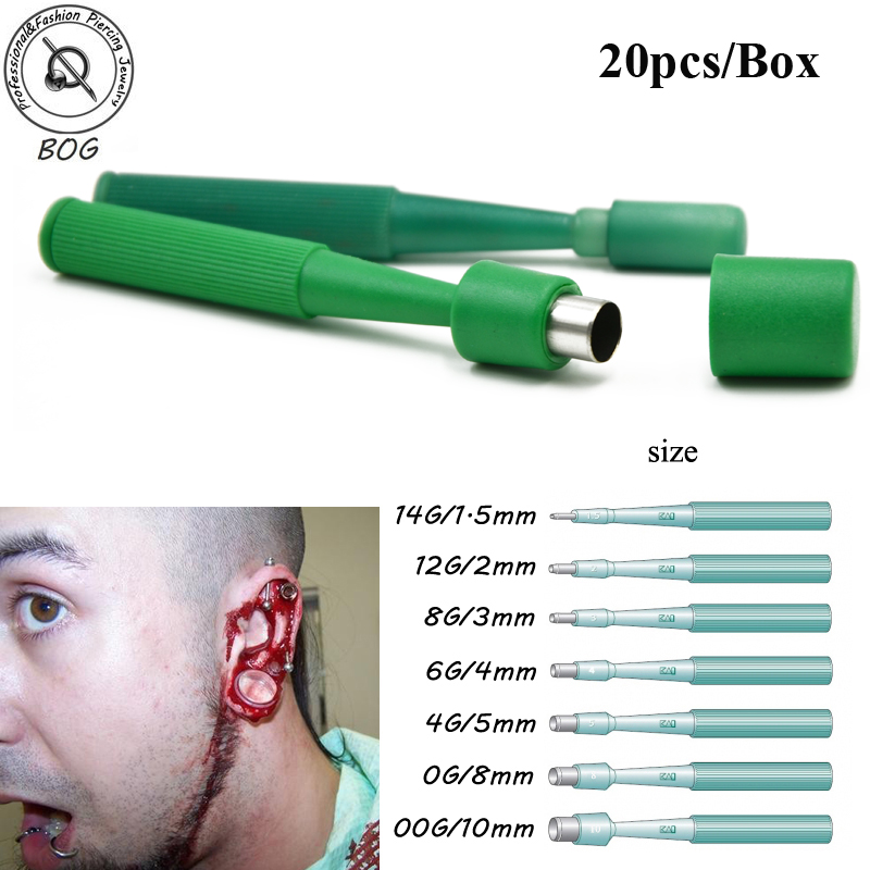 BOG-Lot 20 Pcs Sterilized Biopsi Pakai Dermal Punch Punches Body Piercing Alat Profesional Dermal Punch untuk Menindik Kulit