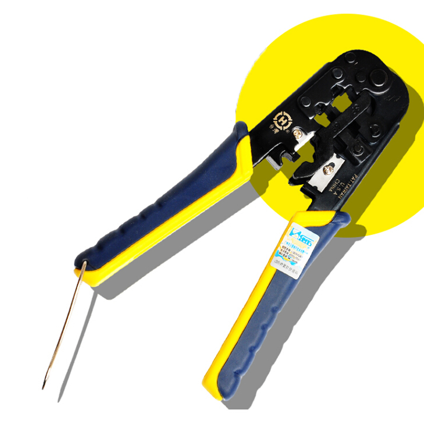 KELUSHI High precision HT-N5684 Multi-Modular Plug Crimps and Cuts Tool with Ratchet