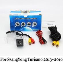 Вид сзади автомобиля Камера для SsangYong turismo 2013 ~ 2016/RCA AUX Провода или Беспроводной/HD широкоугольный объектив угол/CCD Ночное видение Камера