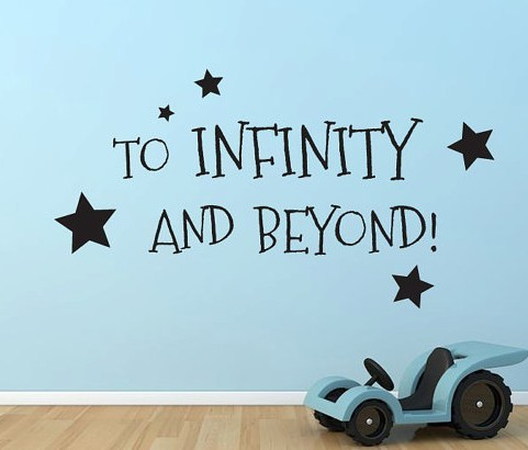 To Infinity And Beyond Quote Vinyl Wall Decal Sticker In Wall