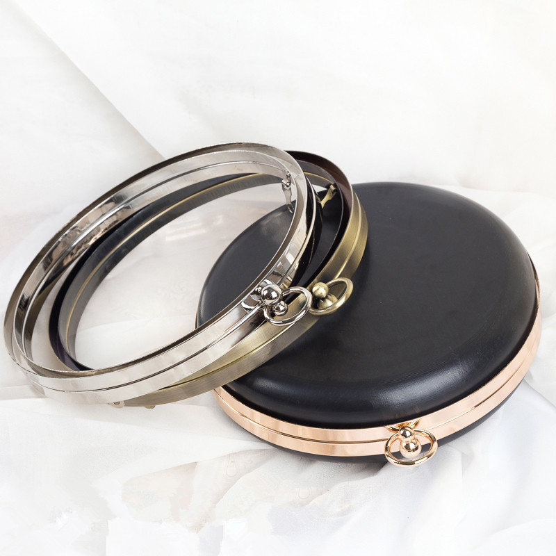 Round Shape Metal Box Purse Frame Handle Purse Handle Hardware Wholesale Bag Accesories For Handbags Bag Strap Metal Purse Frame Good Heat Preservation Luggage & Bags