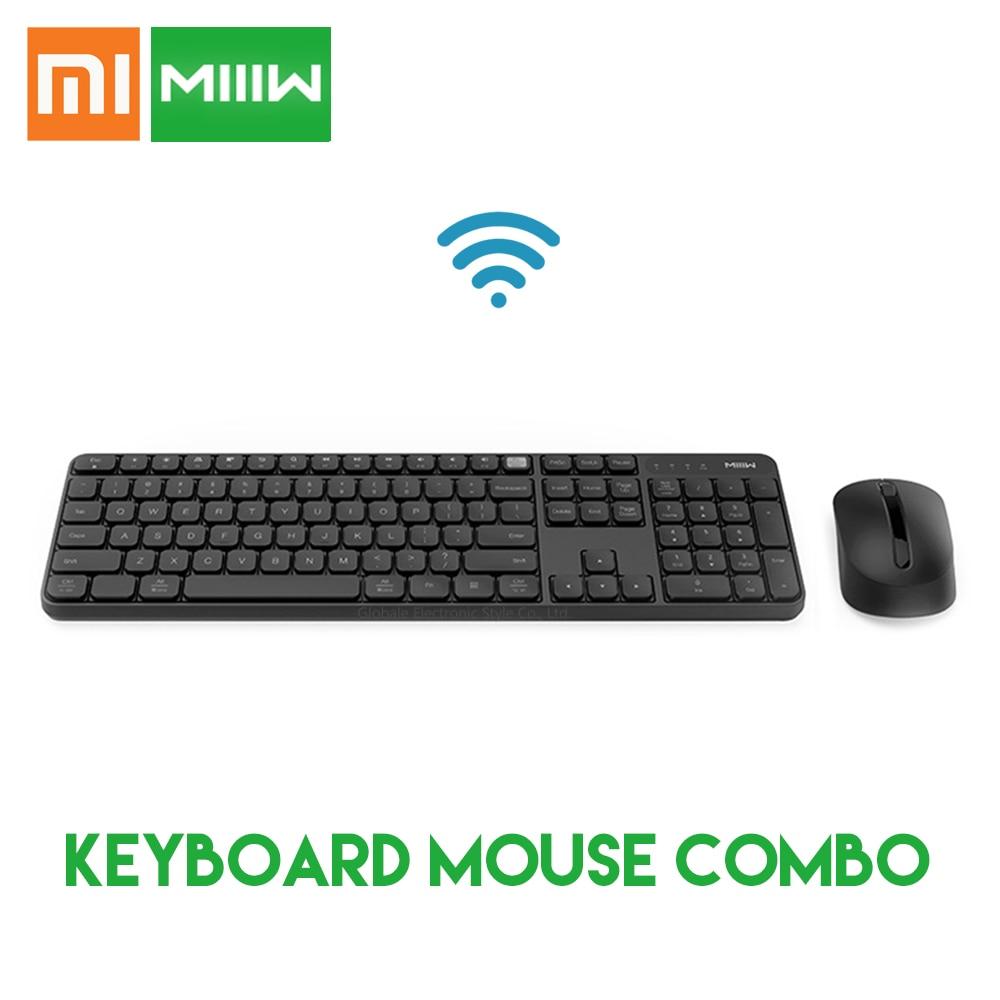 Original Xiaomi MIIIW 2.4GHz Wireless Office Keyboard Mouse Set 104 Keys Windows Mac Compatible Waterproof Portable USB Keyboard