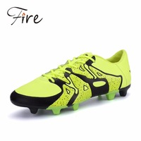2016 Spring Boy Kids Men Soccer Cleats Boots Turf Football Soccer Shoes Hard Court Outdoor Sneakers