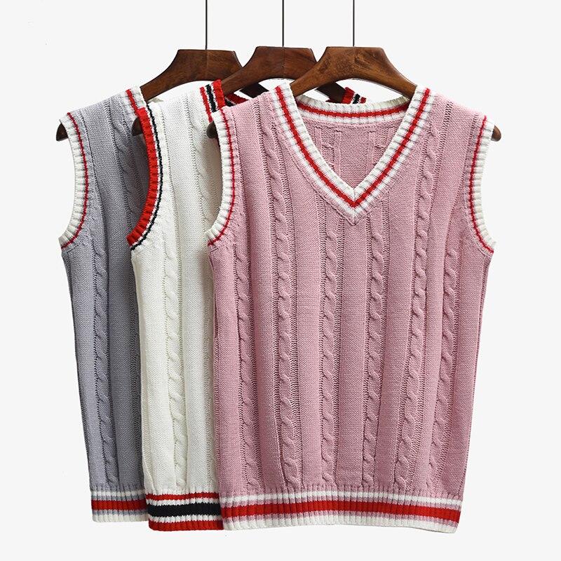 6 Farbe V-ausschnitt Weste Pullover 2017 Herbst Sleeveless Frauen ...