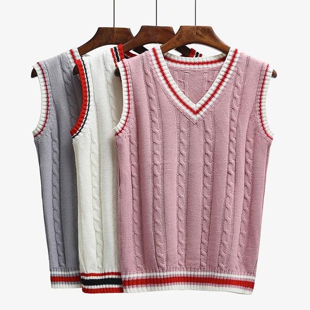 6 color Masajeadores de cuello chaleco suéter 2017 otoño sin mangas ...