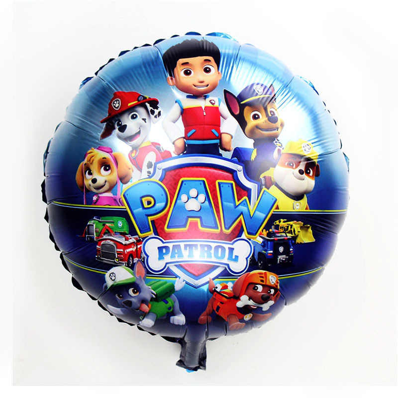 Paw Patrol บอลลูนวันเกิดรูปบอลลูนฟอยล์ Chase Marshall Ryder Paw Patrol สุนัขบอลลูนวันเกิดของขวัญ 1pc
