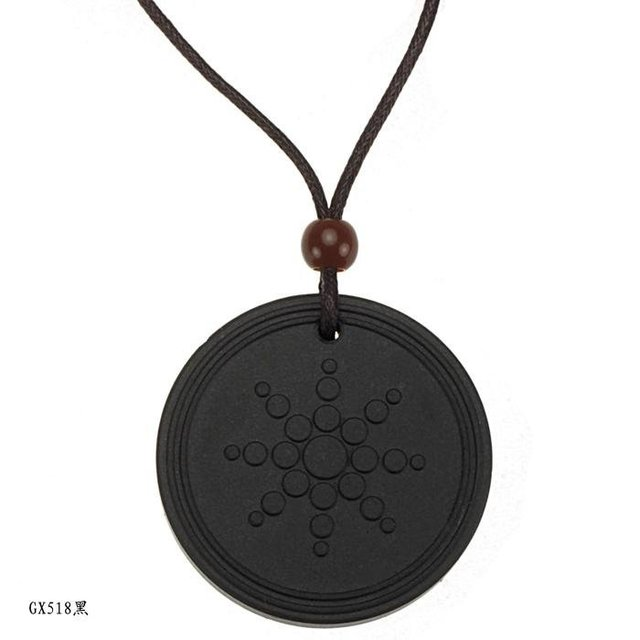 Special Promotion Quantum Pendants scalar energy jewellery healthy banlance black round pendant NECKLACE ESPECIAL OFFER GX518