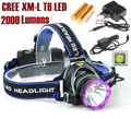 AloneFire HP81 cree led Headlight Cree XM-L T6 LED 3800LM cree led Headlamp light +AC Charger/Car charger/2x 18650 battery