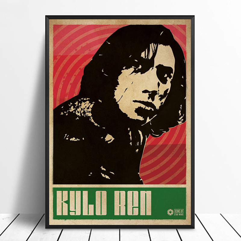 Kylo Ren Star Wars Pop Art Minimalism Vintage Movie Poster Home Decor Wall Decor Wall Art Canvas Print image