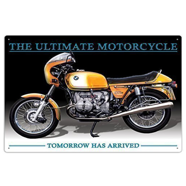 Vintage Home Decor Decorative Metal Plaques The Ultimate Motorcycle Garage Tin Sign Wall Art 20