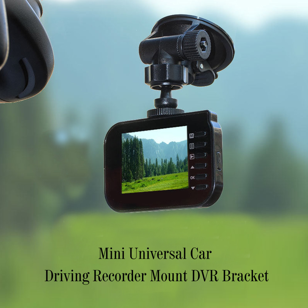 Black Universal Car Driving Recorder Mount DVR Bracket Screw Connector Rack DV GPS Camera Stand Holder Mini Car DVR GPS holder h 548 bike motorcycle mount stand w 3m sticker for camera gps dv player black