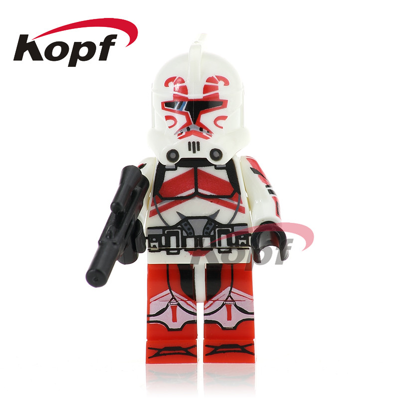 Single Sale PG754 Keeli Red Clone Soldiers Stormtrooper Commander Kashyyyk Mini Dolls Model Building Blocks Toys for children hot sale 12cm foreign chavo genuine peluche plush toys character mini humanoid dolls