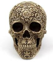 The Creative Cluster Of Flowers Skull Skull Halloween Ornaments Resin Table Decoration Decoration Ba