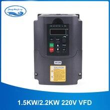2.2kw инвертор 220 В 2.2kw VFD частотно-регулируемый привод VFD инвертор 400 Гц 10A частотно-регулируемым приводом инвертор 1HP Вход 3HP преобразователь частоты