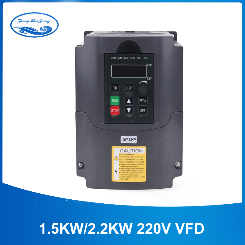 2.2kw Inversor 220v 2.2kw VFD Unidade de Freqüência Variável VFD Do Inversor VFD Inversor 400Hz 10A 1HP 3HP freqüência de Entrada inversor
