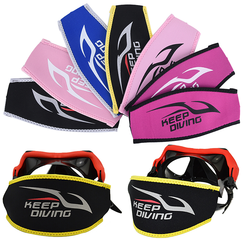 Neoprene 5Colors Diving Mask Head Strap Cover Mask Padded  For Added Comfort Equipment Tool Protect Long Hair Band Strap-Wrapper