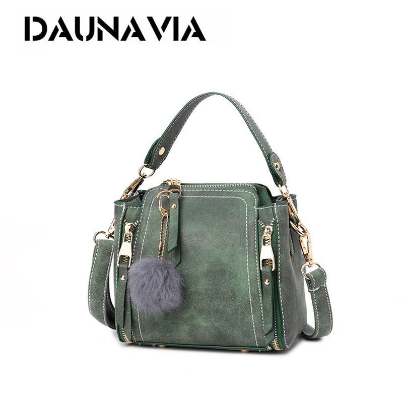 Women Scrub Handbags Leather Fur Ball Candy Color Women Shoulder Bag Female Winter Quality Bag Ladies Messenger Cross Body Bags qiaobao 2018 new korean version of the first layer of women s leather packet messenger bag female shoulder diagonal cross bag