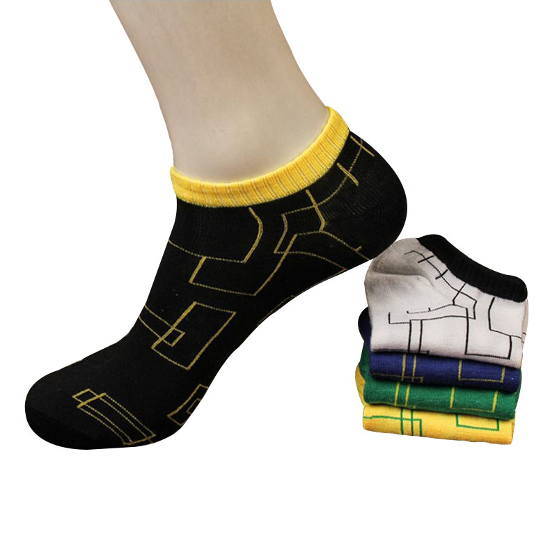 5 Pairs Men socks Trendy Personality Maze Graphics Pattern Bright Color Male No Show Sock Non-slip Breathable Ankle Sock Meia