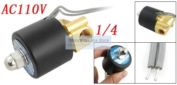 Free Shipping 1/4'' Direct Acting Water Electric Solenoid Valve AC110V 2W025-08 China Post free shipping 2l series solenoid valve 110v ac