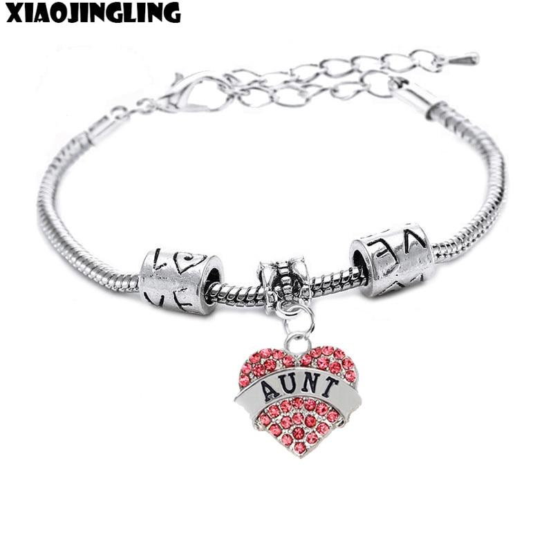 3b5d6e5c3045 Xiaojingling Nueva joyería pulsera cristalina sobrina Nana hermana hija  brazalete pulseras para las mujeres señora fiesta de cumpleaños