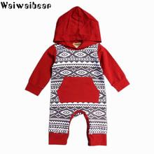 Waiwaibear Baby Rompers Kids Long-Sleeved  Hooded Jumpsuits Cotton Spring Autumn Romper Clothes TY10