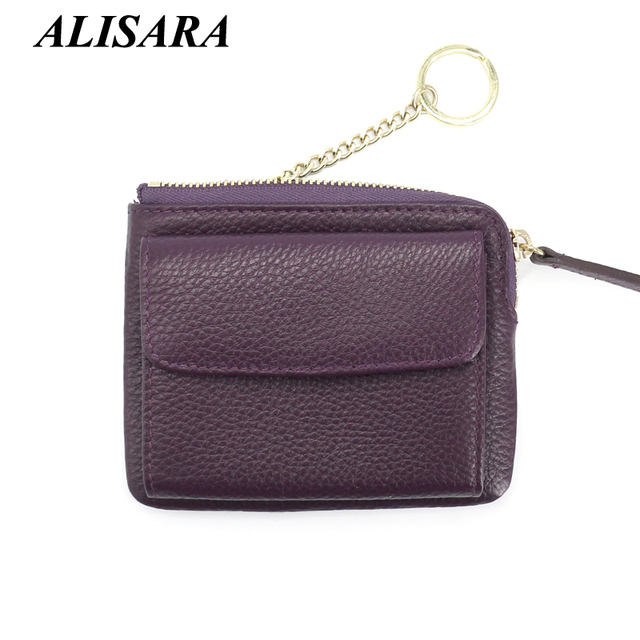 Women's leather wallets Lady Mini Zipper Coin Purses Female Small Change Purse key Pouch Hasp Money Bag Coin Pocket card holder