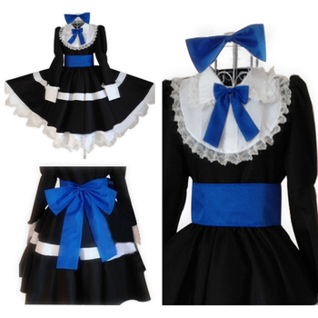 Anime Panty & Stocking with Garterbelt Heroine Anarchy Black Dress Cosplay Costume Stockings