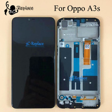 100% Tested Black 6.2 inch For Oppo A3s Full LCD DIsplay Touch Screen Digitizer Assembly Replacement With Frame For Oppo A2 Pro