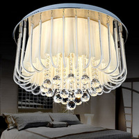 D55 X H40CM Modern Bedroom Lamp Ceiling Lamps LED Crystal Lamp Warm And Romantic Garden Cloth