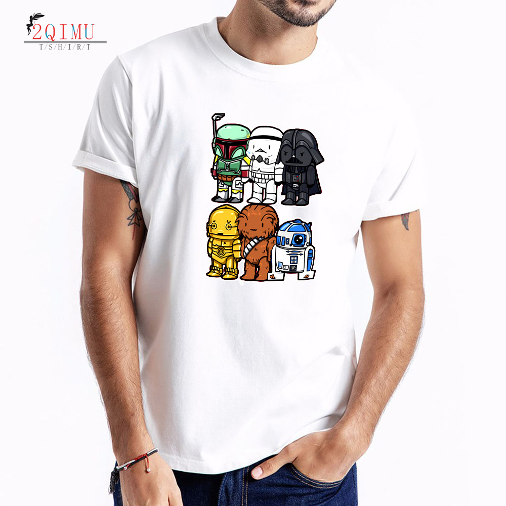 2QIMU New Summer T Shirt Mens Lastest 2019 Fashion Short Sleeve T Shirt Funny Cartoon Pattern T Shirts Hipster O Neck Cool Tees in T Shirts from Men 39 s Clothing