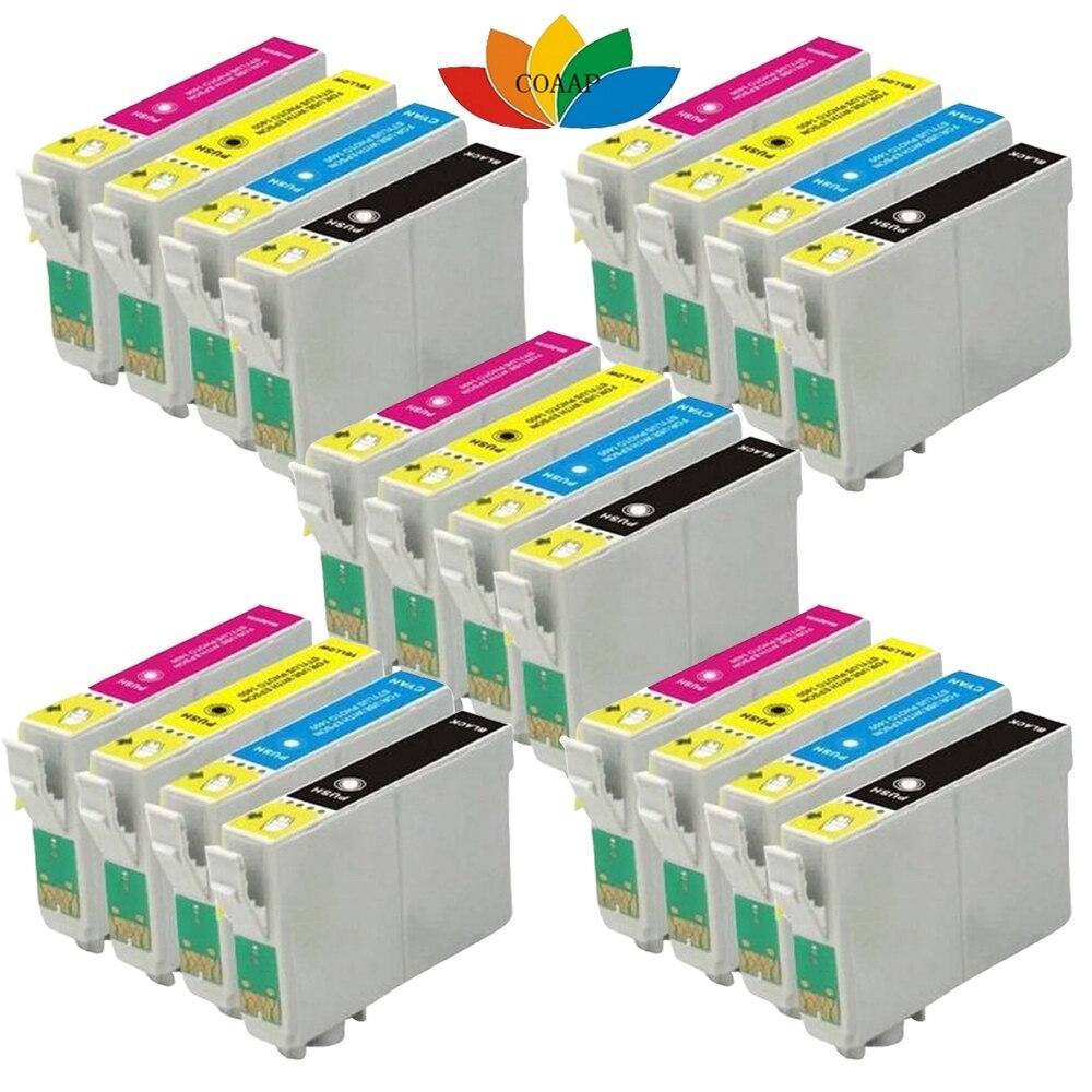 20x compatibile cartucce d'inchiostro per stampanti epson xp-412 xp-212 xp-102 xp-212 t1816 xl 18xl t1811-t1814 xl