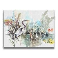 นกstorksสัตว์ภาพวาดศิลปะศิลปะไร้กรอบภาพถ่ายผนังกรอบไม้พิมพ์16*20นิ้ว