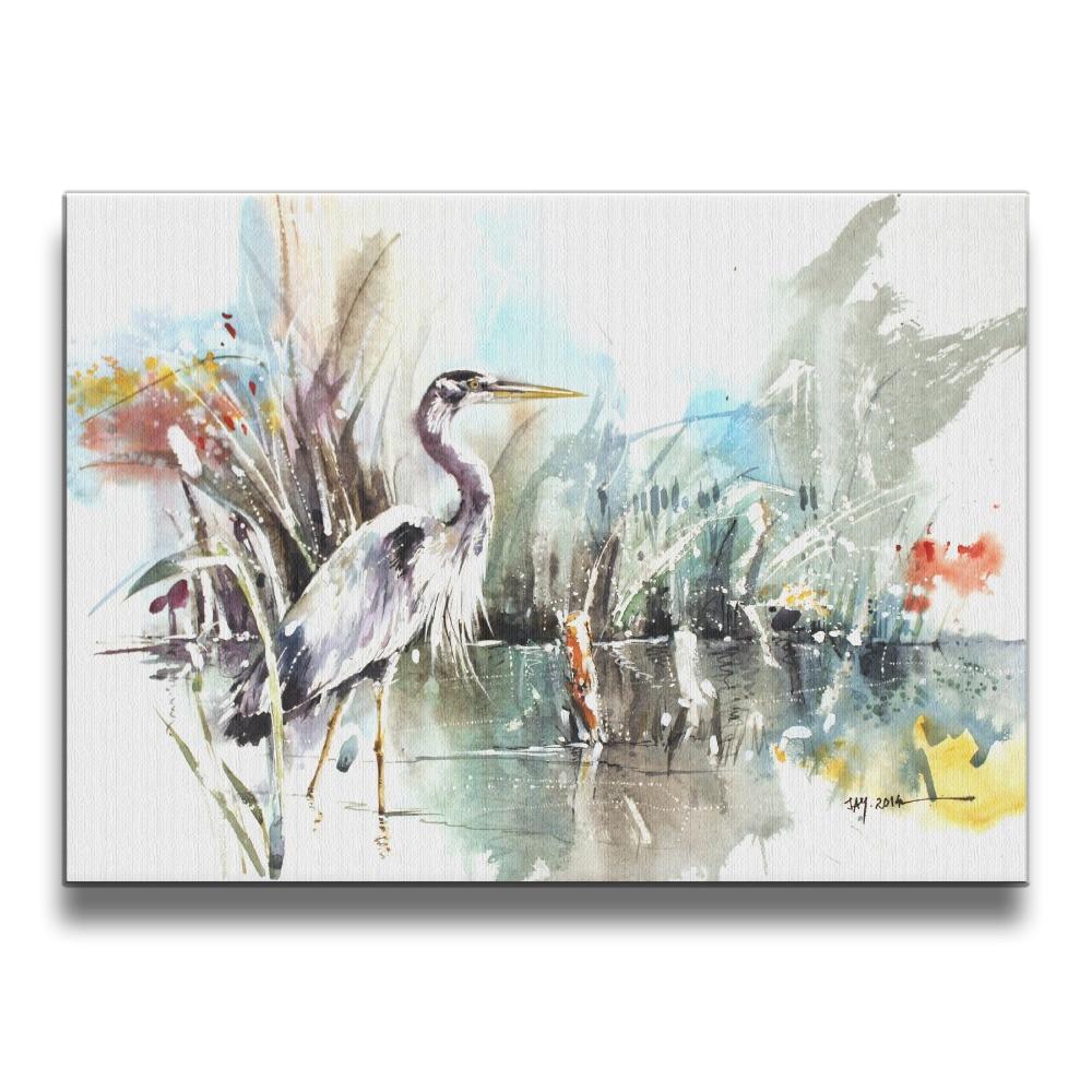Vögel storks tiere malerei Rahmenlose kunst Kunst Fotos Wand Rahmen ...