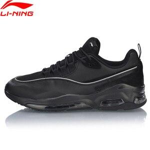 Image 1 - Мужские прогулочные туфли Li Ning BUBBLE FACE II, носимые Нескользящие удобные спортивные туфли с подкладкой, кроссовки для фитнеса AGCP005 SJFM19