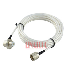5 meter white RG303 pl259 uhf male to female so239 car radio antenna teflon high voltage coaxial cable