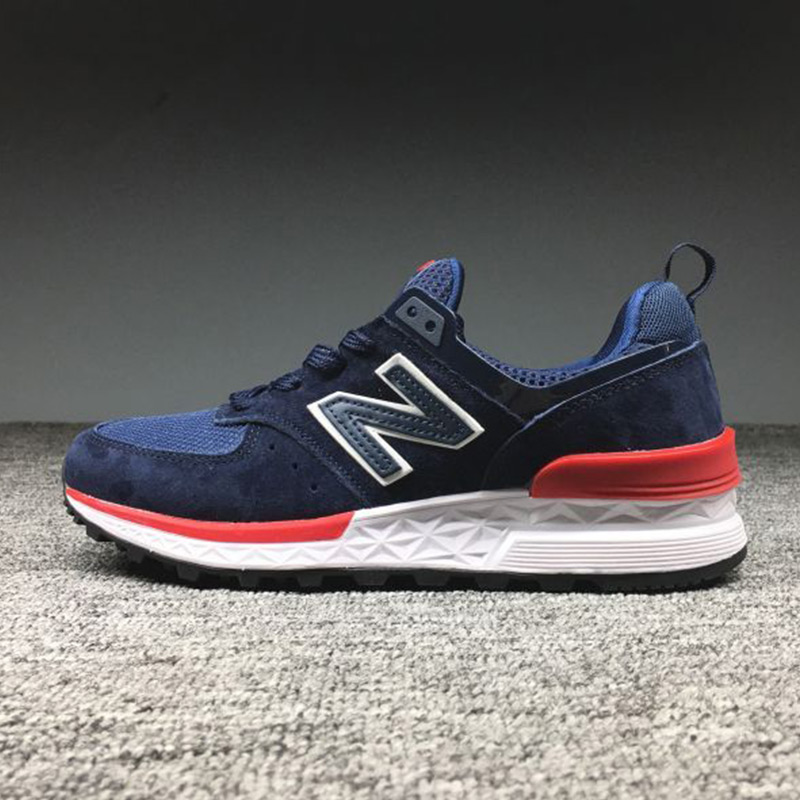 NEW ARRIVAL NEW BALANCE MS2018574V2 COUPLE Shoes  TREEKING DesignER BLUE  AND RED Sneakers 36-44 14Colors HOT SALE