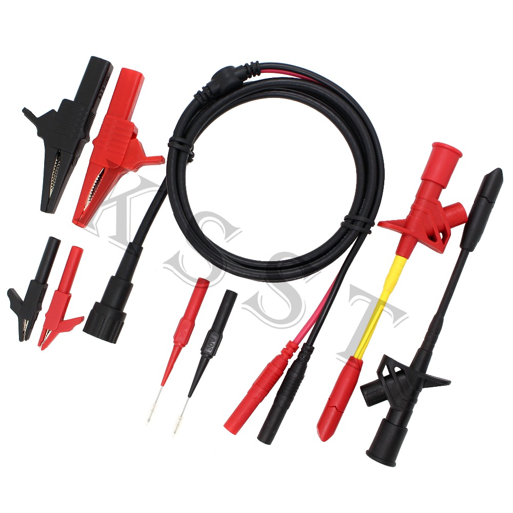 B003 9pcs/set BNC Electronic Specialties Test Lead kit Automotive Test Probe Kit Universal Multimeter probe leads kit aidetek needle tipped tip leadmodular heavy duty test probe handles tl809 leads set for multimeter leads 2tlp20162