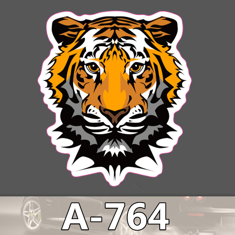 A-764 Tiger Waterproof Cool DIY Stickers For Laptop Luggage Fridge Skateboard Car Graffiti Cartoon Sticker