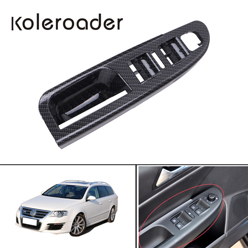 Carbon Grain Master Window Mirror Switch Panel Bezel Cover For Volkswagen VW Passat B6 3C1867171