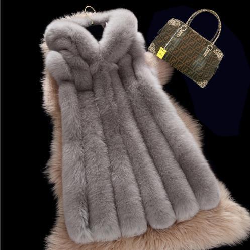 Artificielle Gilet Gray Hiver 2018 We8 photo Gilets La Manteau Furry Fourrure Plus Faux Femme Femmes De Vestes 6xl Taille Sliver nYHSwRq0