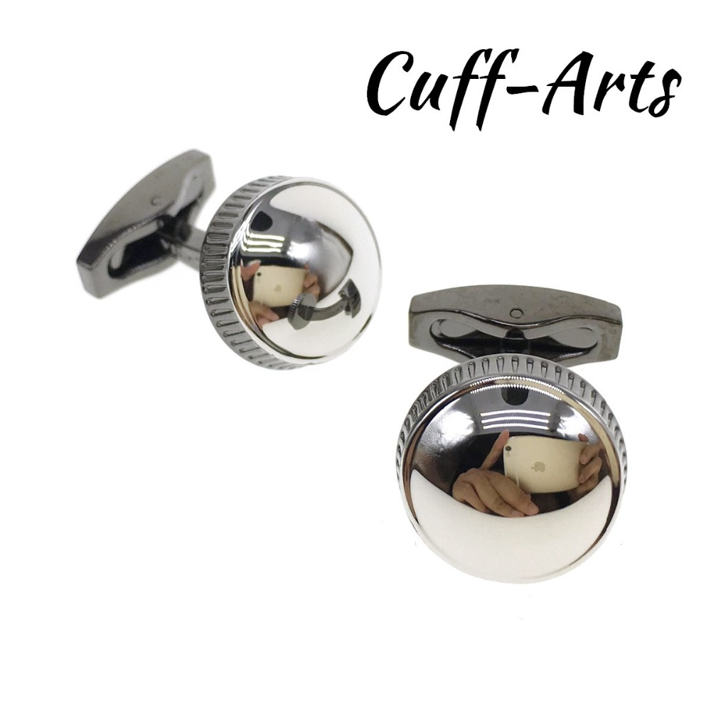 Cuffarts Round 2018 Cufflinks For Men Jewelry High Quality Cuff Links Father Day Gifts Gemelos Para Hombre Camisa C20052
