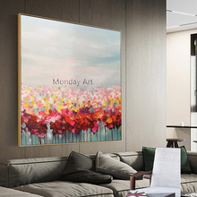 Ларгр картина на холсте ручная роспись морской цветок картины маслом на холсте морской пейзаж