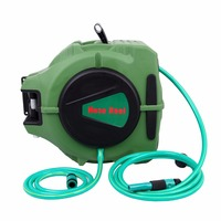 (Ship from EU) 20m Automotive air hose reel Plumbing Hoses retractable garden hose 1/2 hose